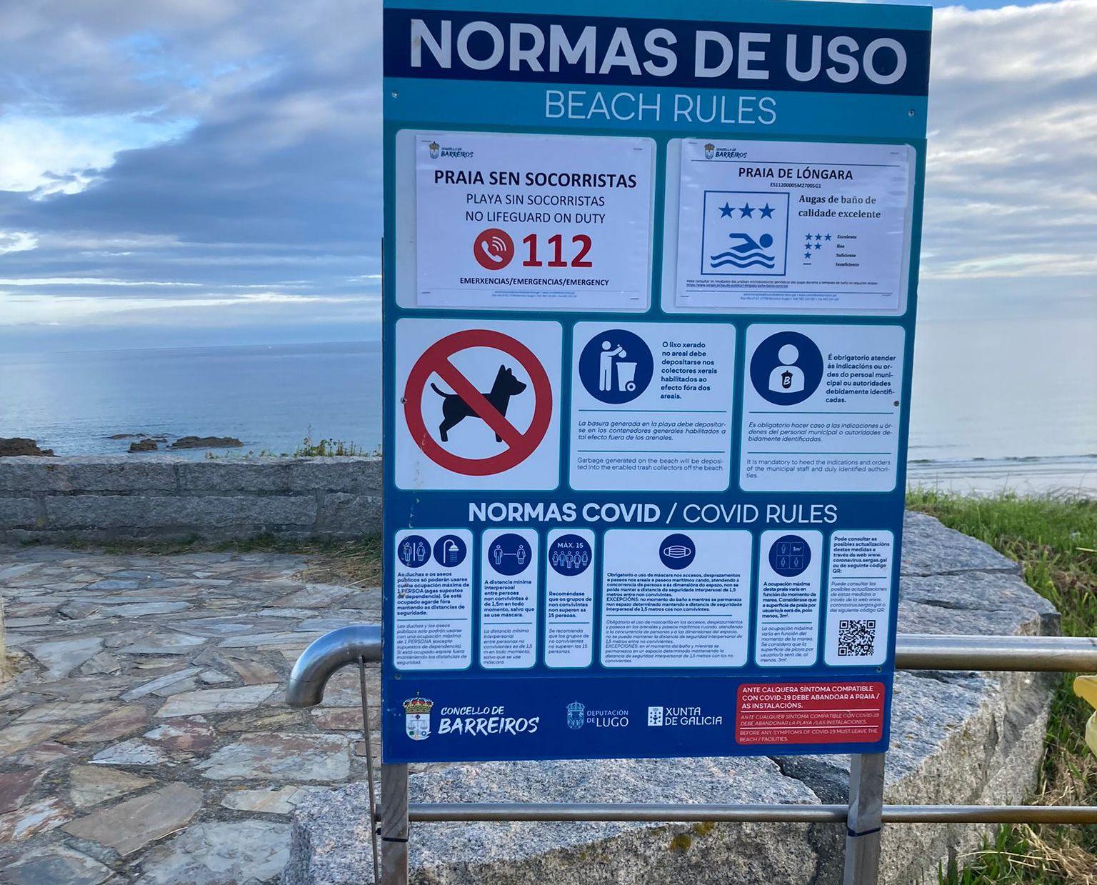 A saúde das praias de Barreiros é excelente, segundo o control realizado por Saúde pública
