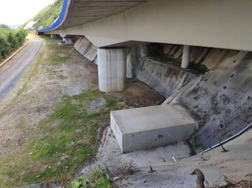 O Ministerio inicia o luns os traballos de conservación no viaduto de Monfadal no km 539 da A-8 ao seu paso por Mondoñedo