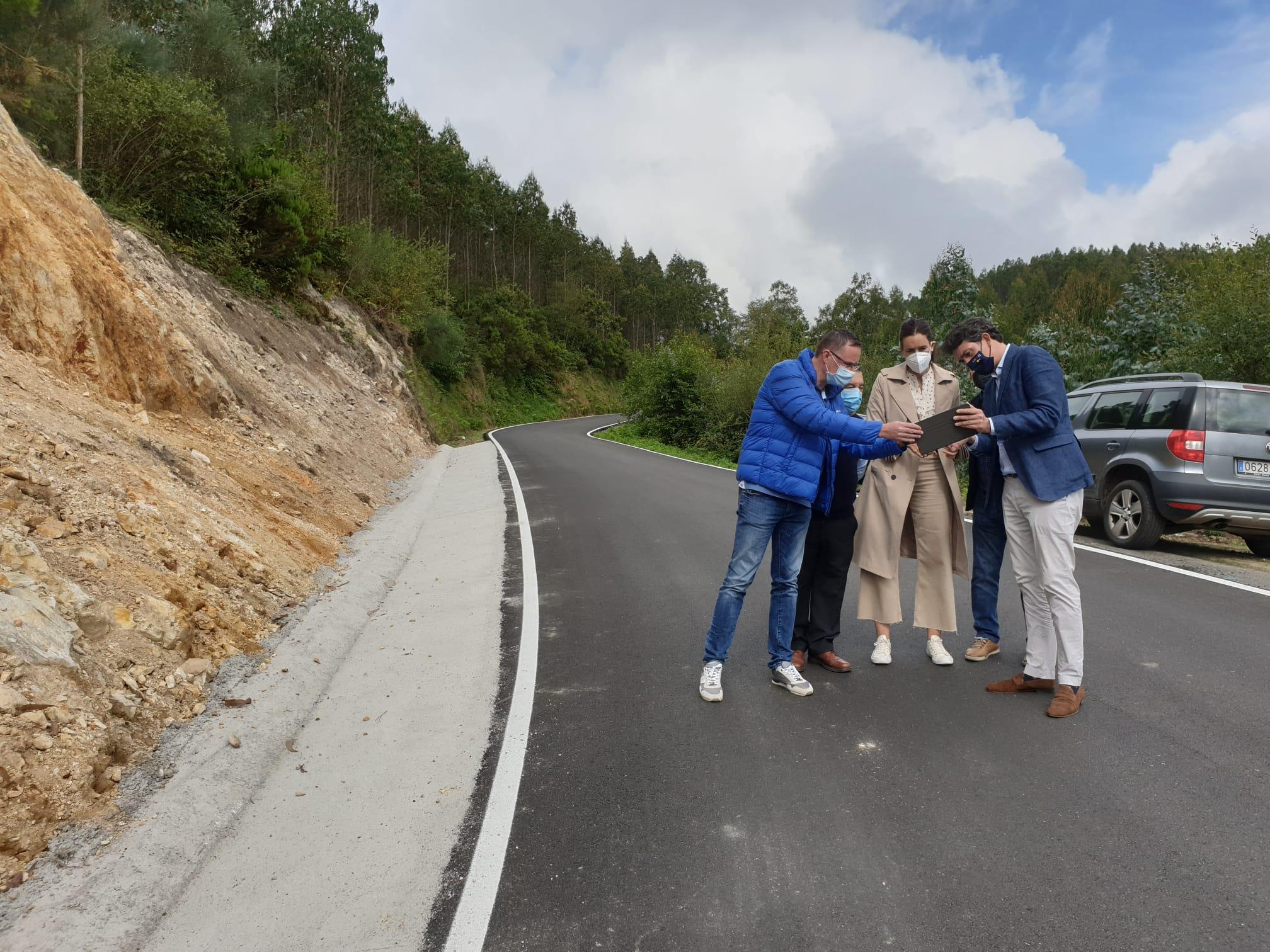 A Xunta destina 150.000€ a mellorar a estrada que conecta Bretoña con Riotorto