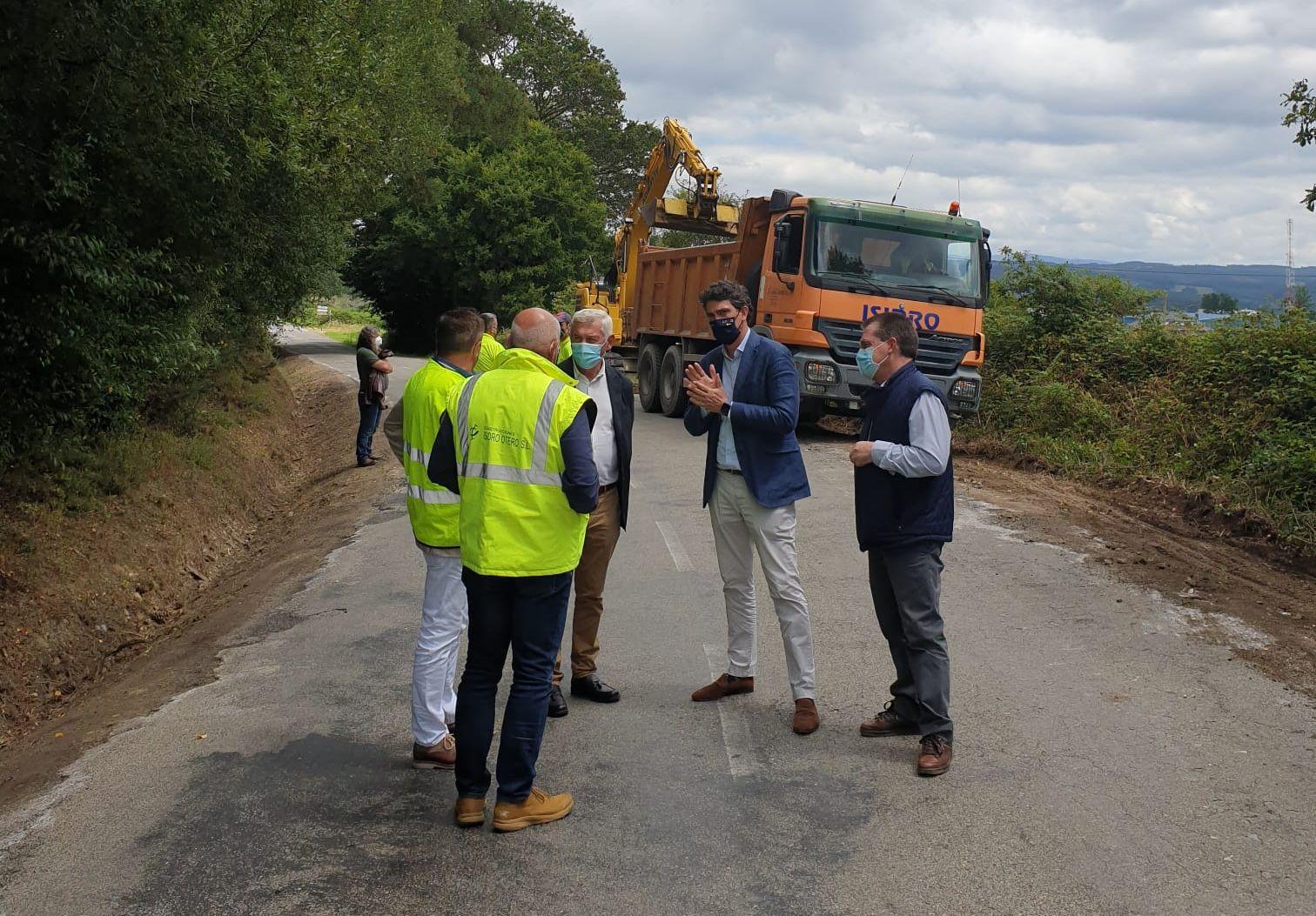 Iniciadas as obras de mellora de firme da estrada LU-170 entre Xermade e Cabreiros