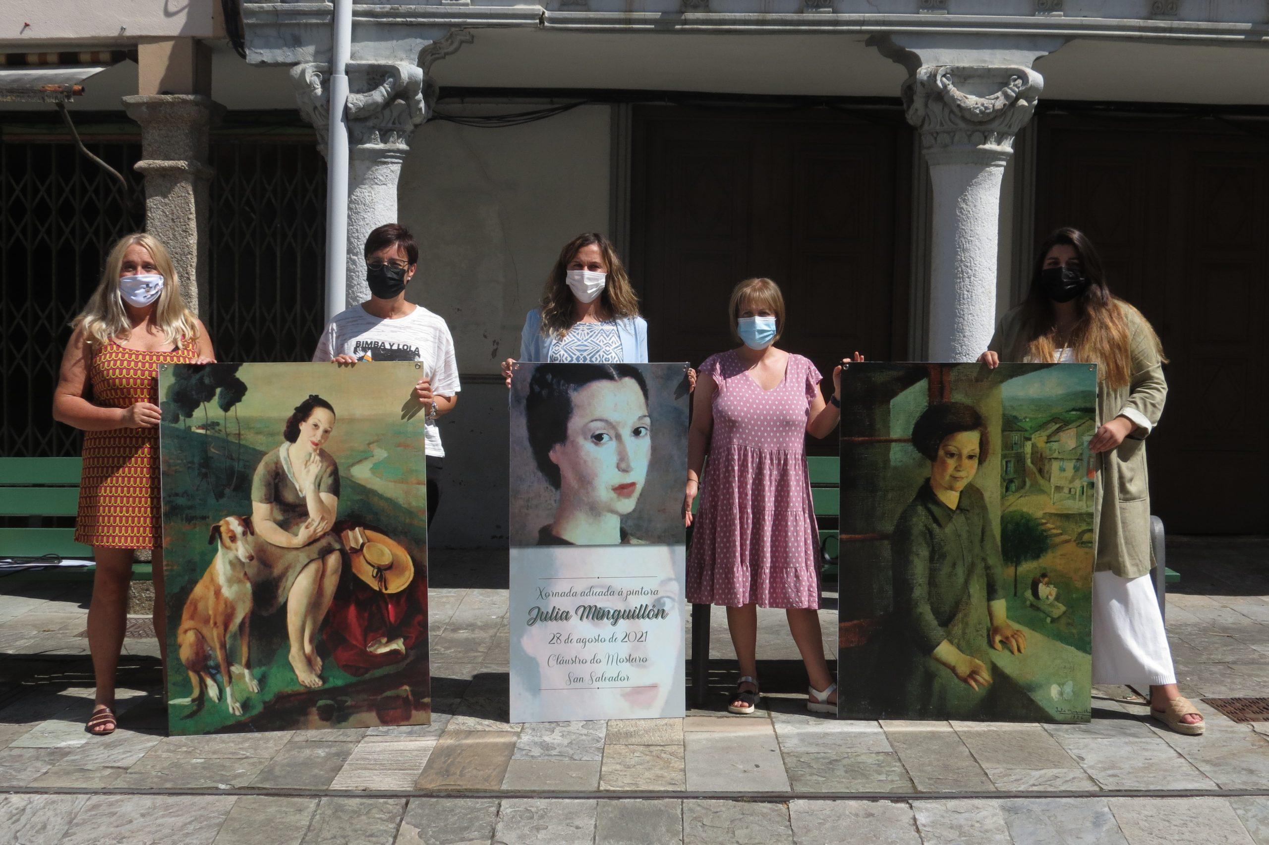 Lourenzá dedica unha xornada a Julia Minguillón e exporá as súas obras na rúa