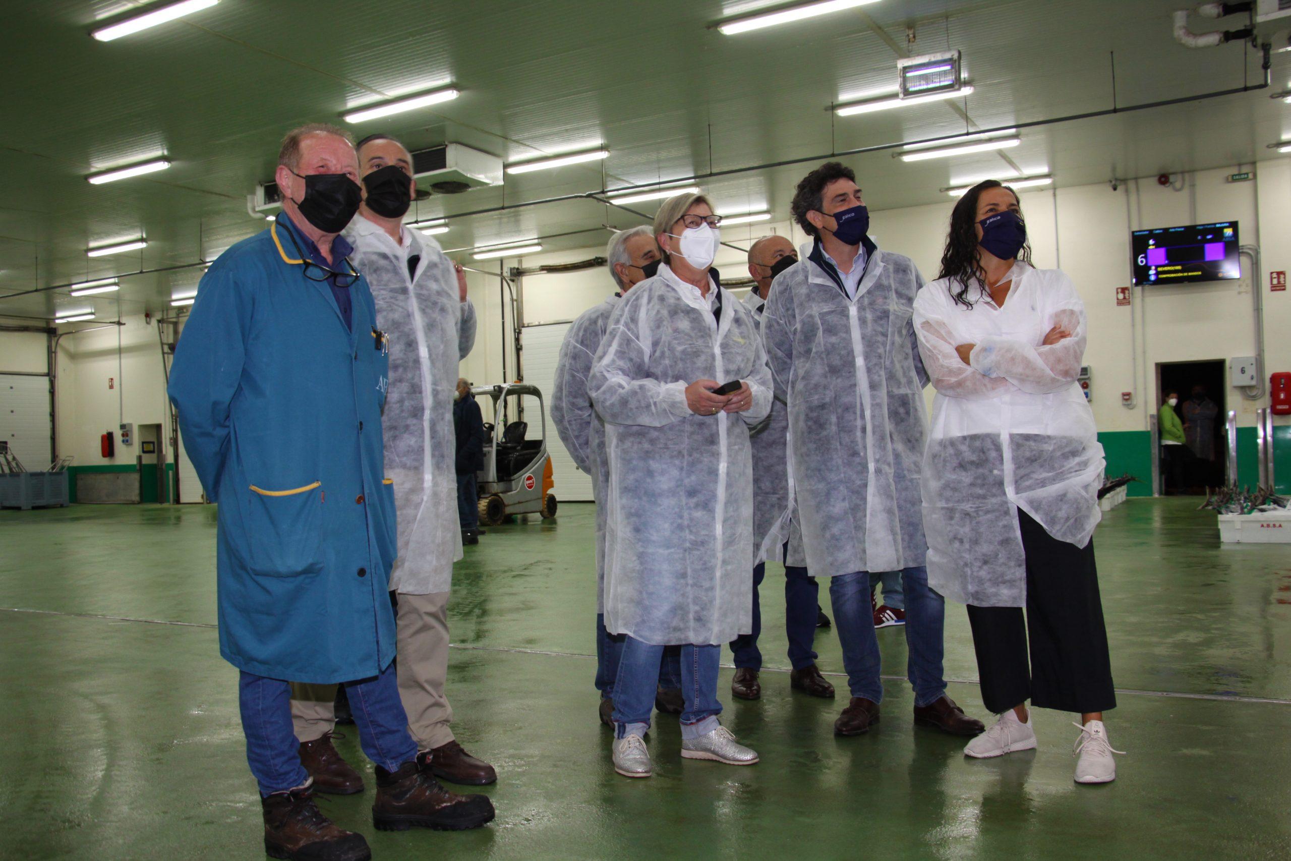 A Xunta constata a innovación da lonxa de Burela cun dos sistemas de poxa máis modernos e avanzados do mundo