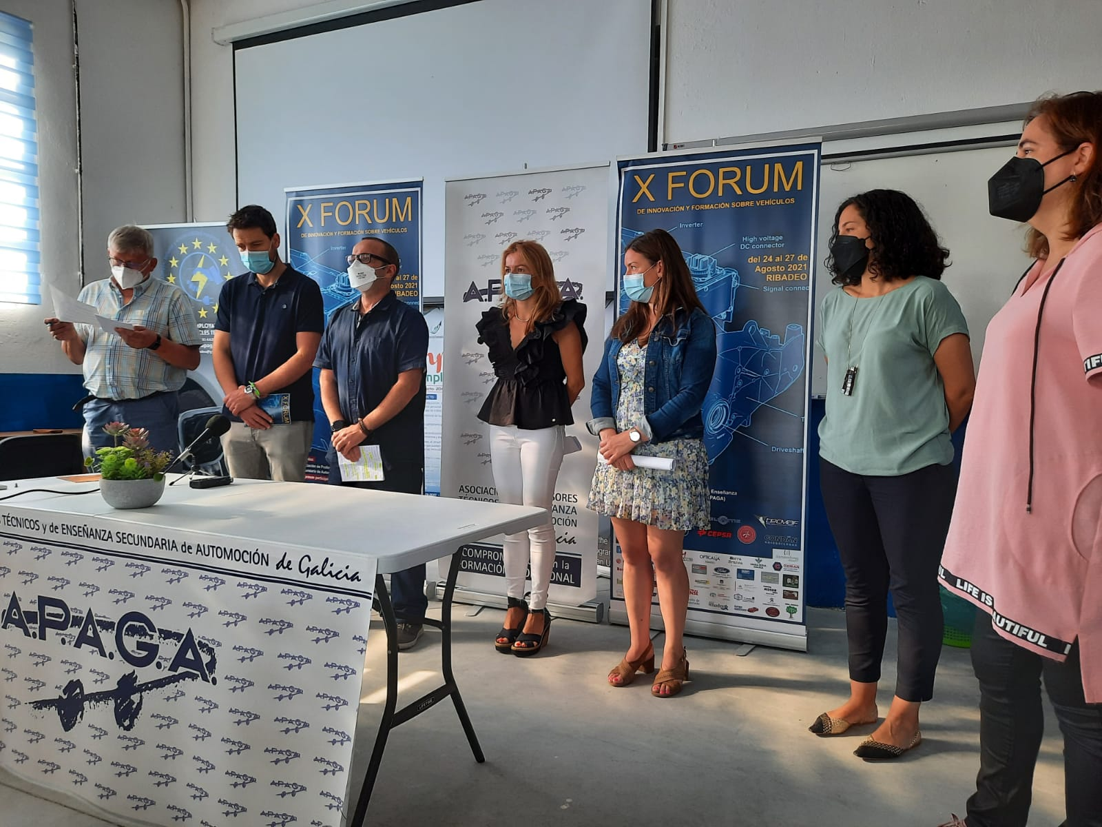 Inaugurado en Ribadeo o X Fórum de Innovación e Formación sobre vehículos, que organiza APAGA