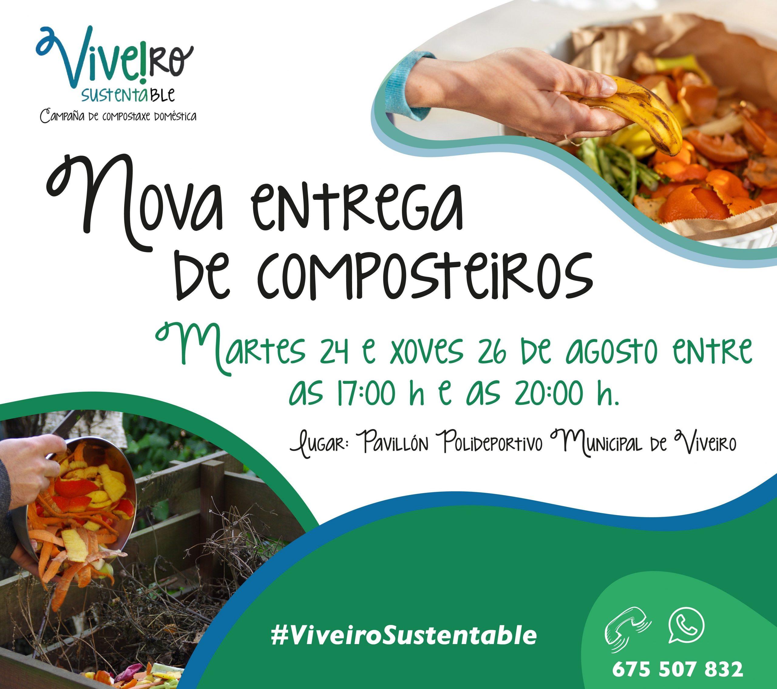 O concello impulsa a compostaxe no municipio e busca chegar ás 300 familias adheridas ao programa Viveiro Sustentable