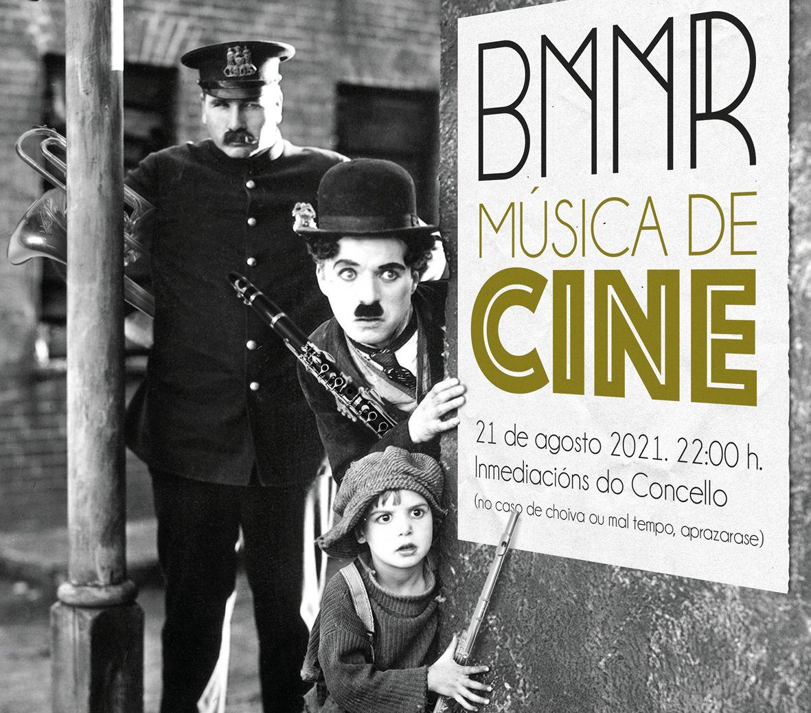 A Banda de Ribadeo ofrecerá o seu tradicional concerto de música de cine este sábado