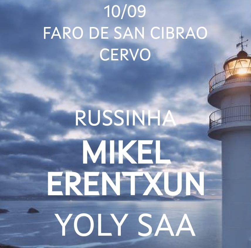 """O ciclo """"Concertos na fin do mundo"""" que chegará o 10 de setembro a San Cibrao, esgota case todas as entradas"""