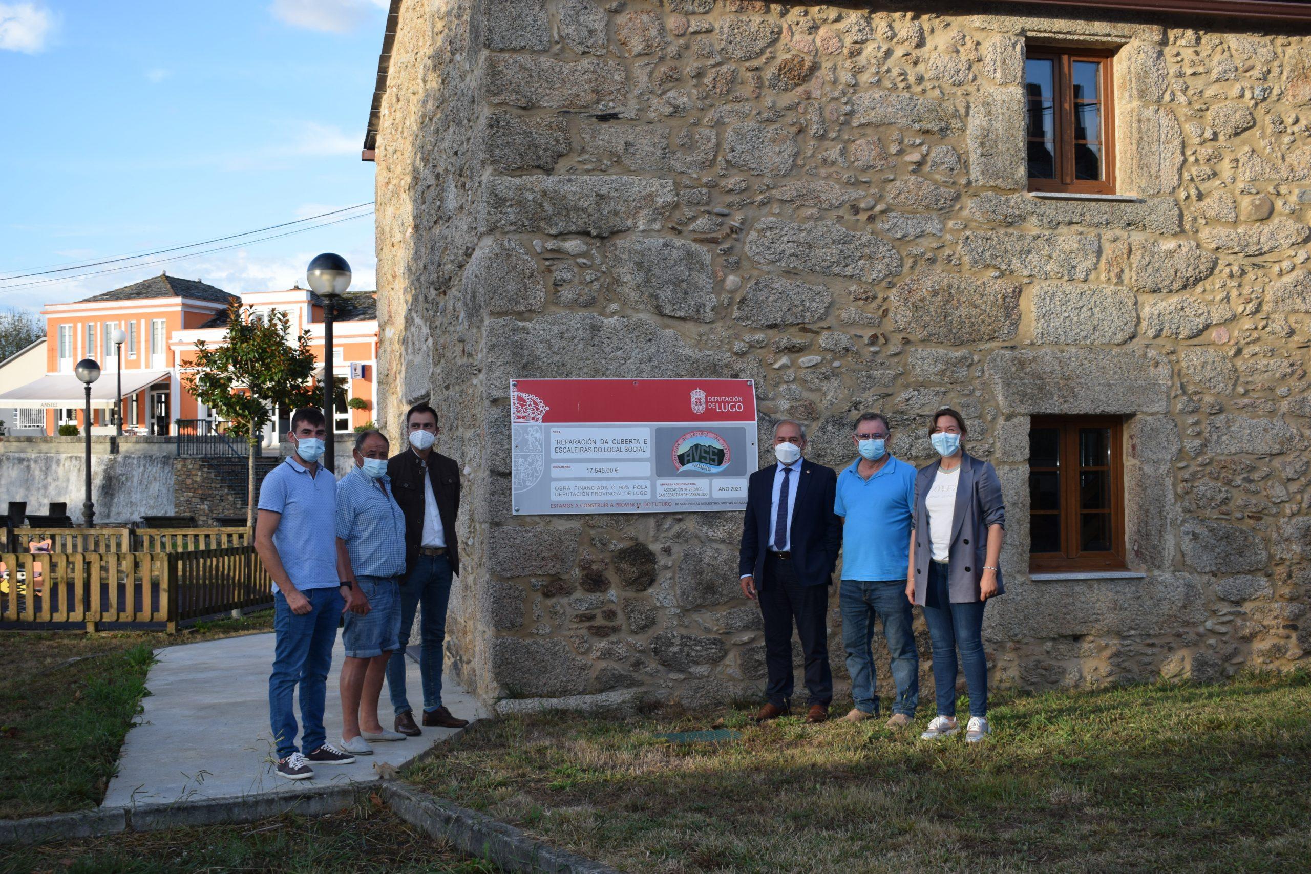 A Deputación inviste máis de 16.000€ na mellora do local social da asociación de veciños de Carballido, en Alfoz
