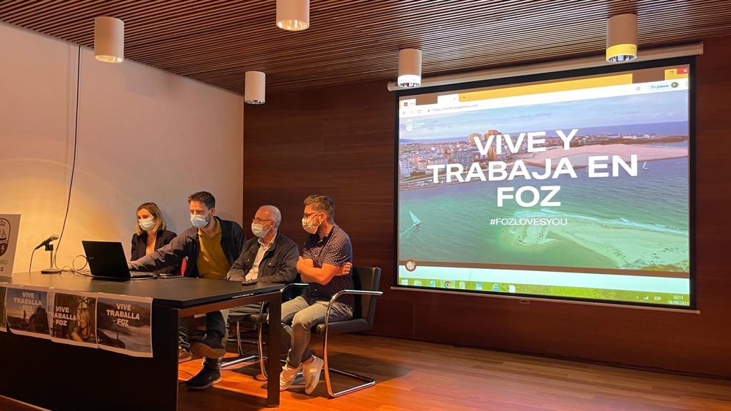O Concello de Foz presenta a súa campaña para atraer teletraballadores e fixar poboación
