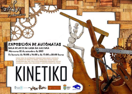 A Exposición de autómatas Kinétiko chega este mércores a Burela