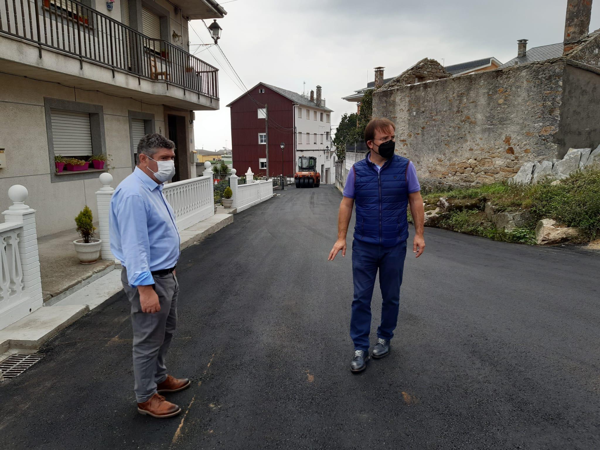 Rematan en Burela as obras na rúa Río Cobo
