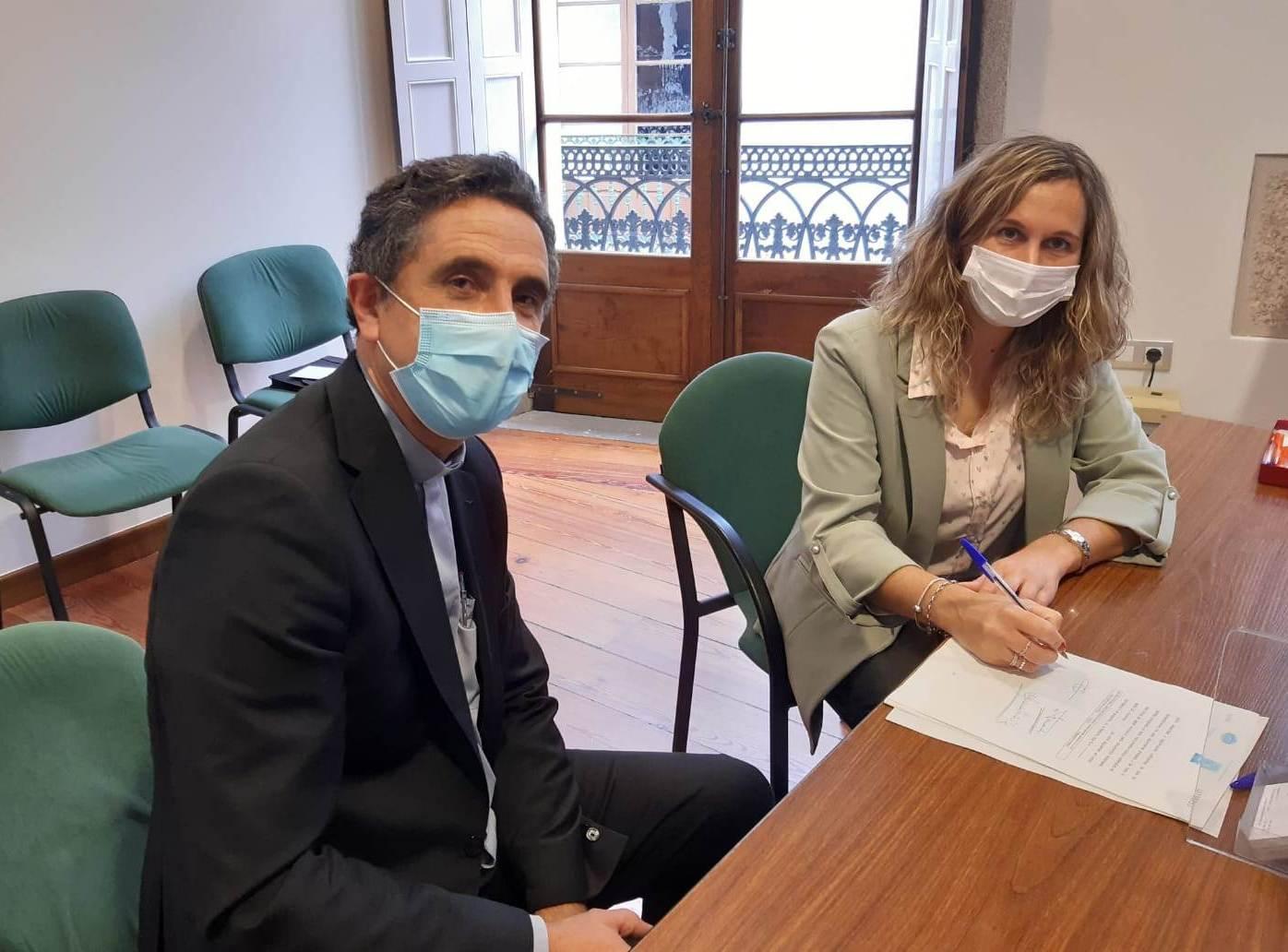 Concello e Bispado asinan un convenio de cesión para rehabilitar o mosteiro de San Salvador de Lourenzá con fondos concedidos polo goberno central