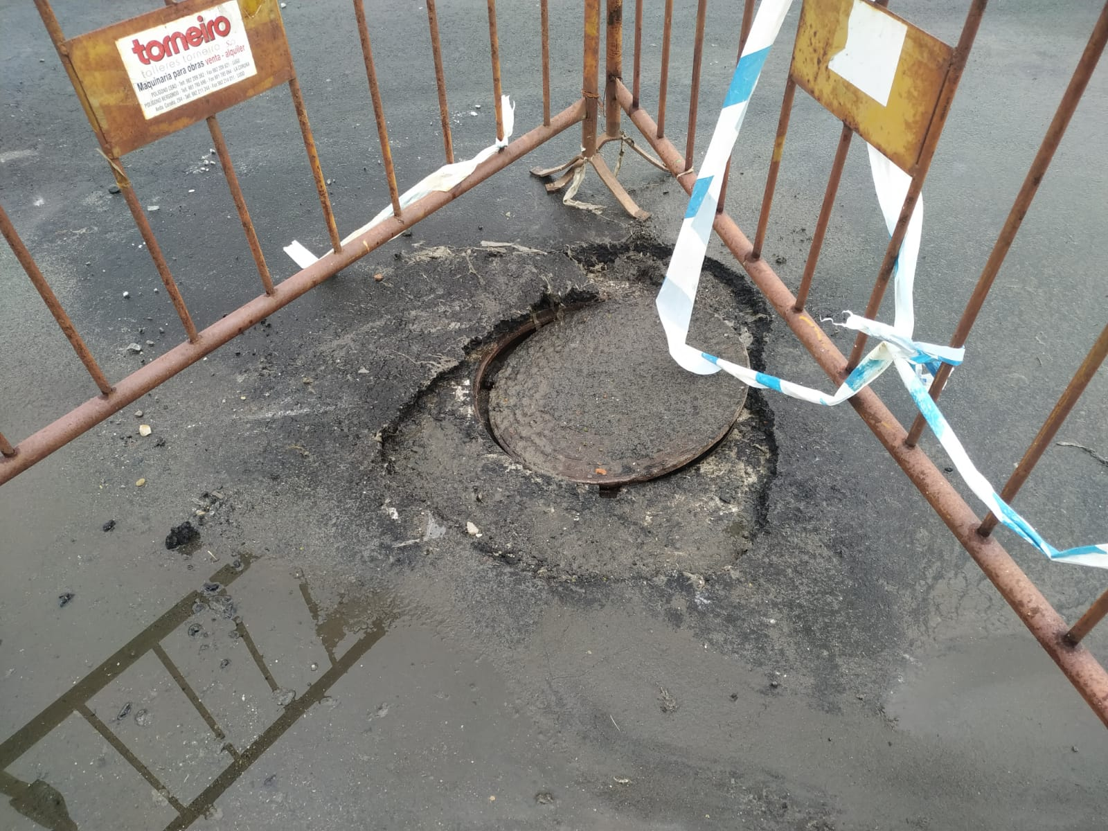 """O PP de Foz, á vista das inundacións, cualifica de """"chapuza e gastacartos"""" a obra de saneamento diante das instalacións do club náutico"""