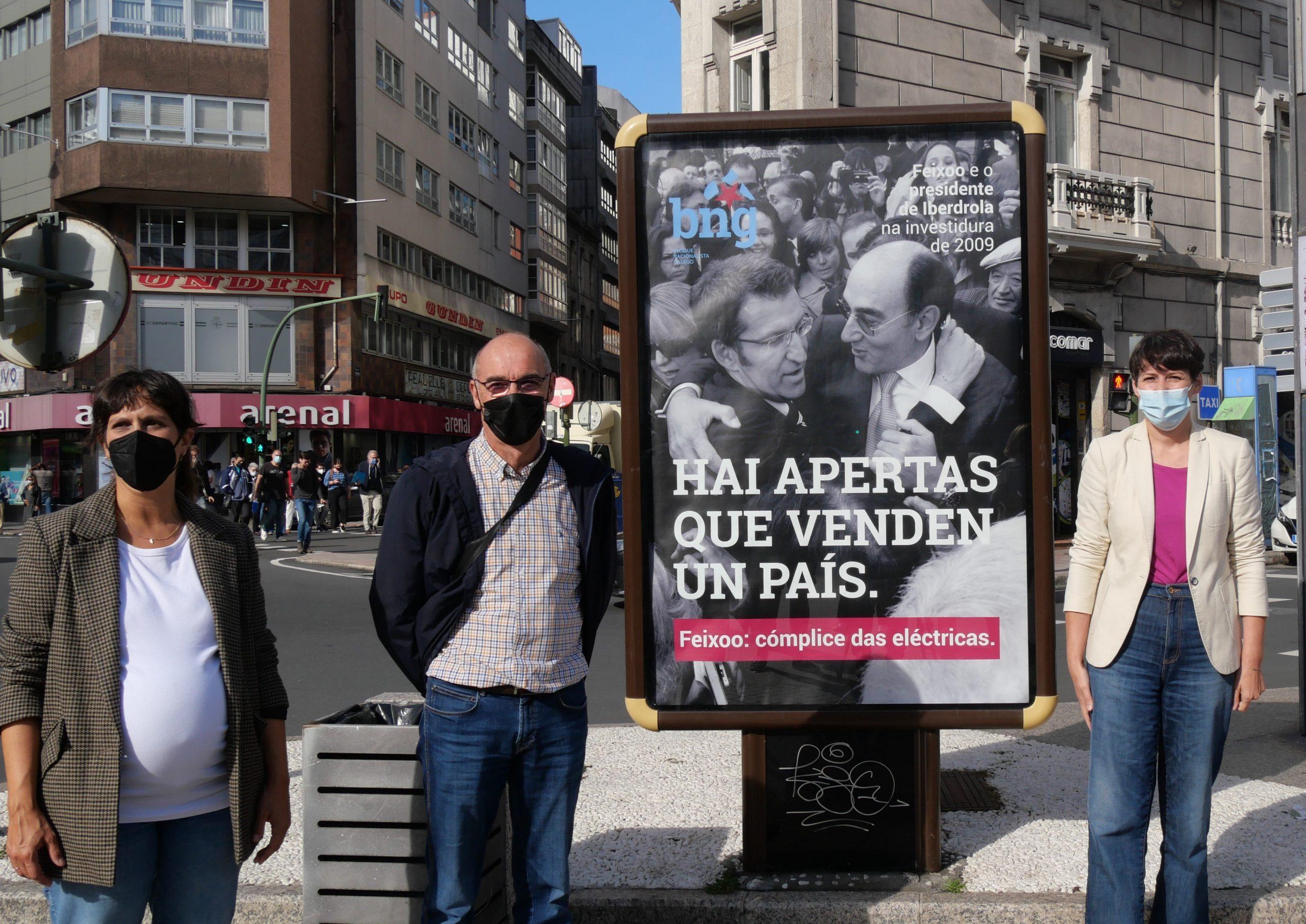 Campaña do BNG para denunciar a complicidade de Feixóo co lobby eléctrico e en defensa dunha tarifa eléctrica galega