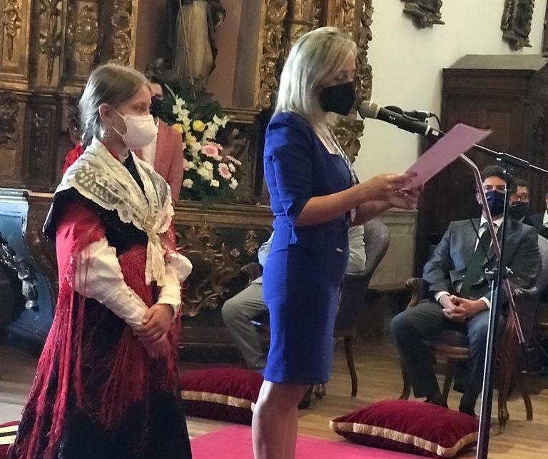 """A Alcaldesa de Viveiro pide e desexa """"superar os retos aos que nos enfrontamos como sociedade"""" na tradicional ofrenda ante a Virxe dos Remedios de Mondoñedo"""