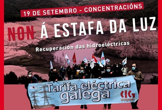 A CIG convoca  concentración en Foz este domingo para dicir NON á estafa da luz