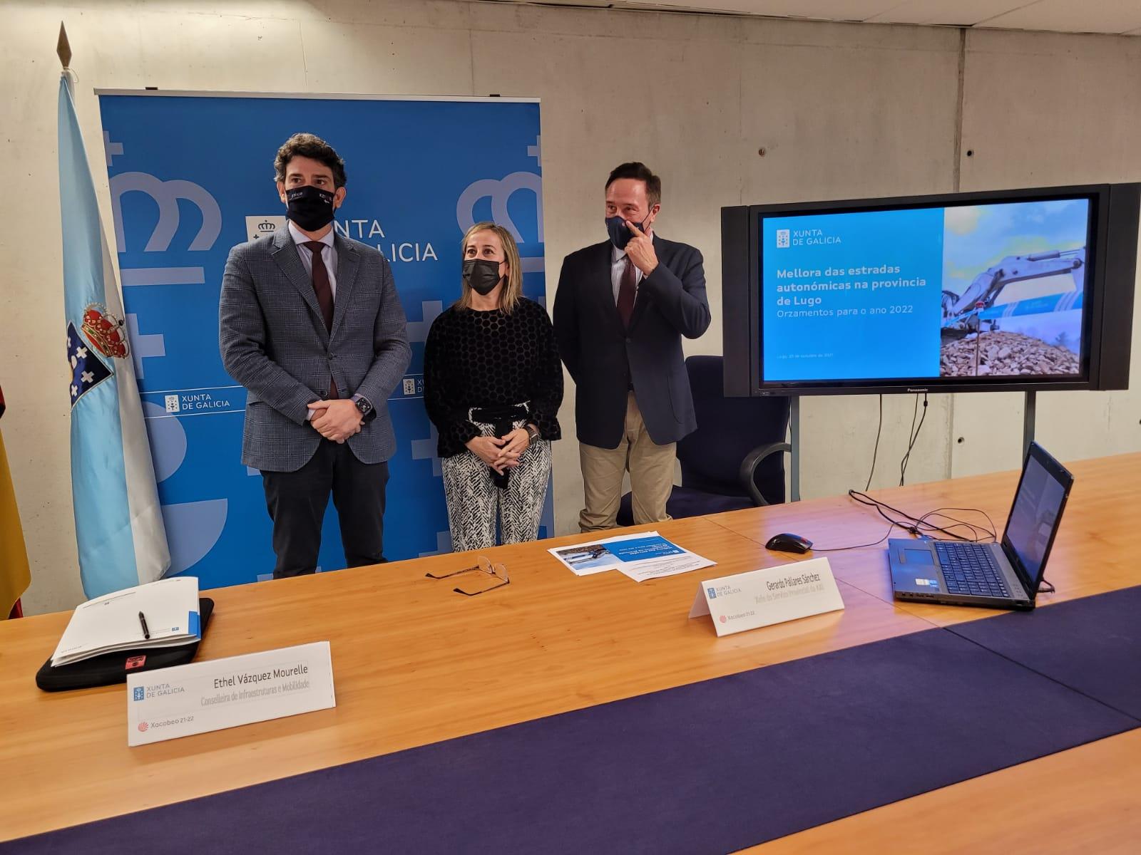 38M€ nas estradas autonómicas da provincia para avanzar na vertebración e no equilibrio territorial