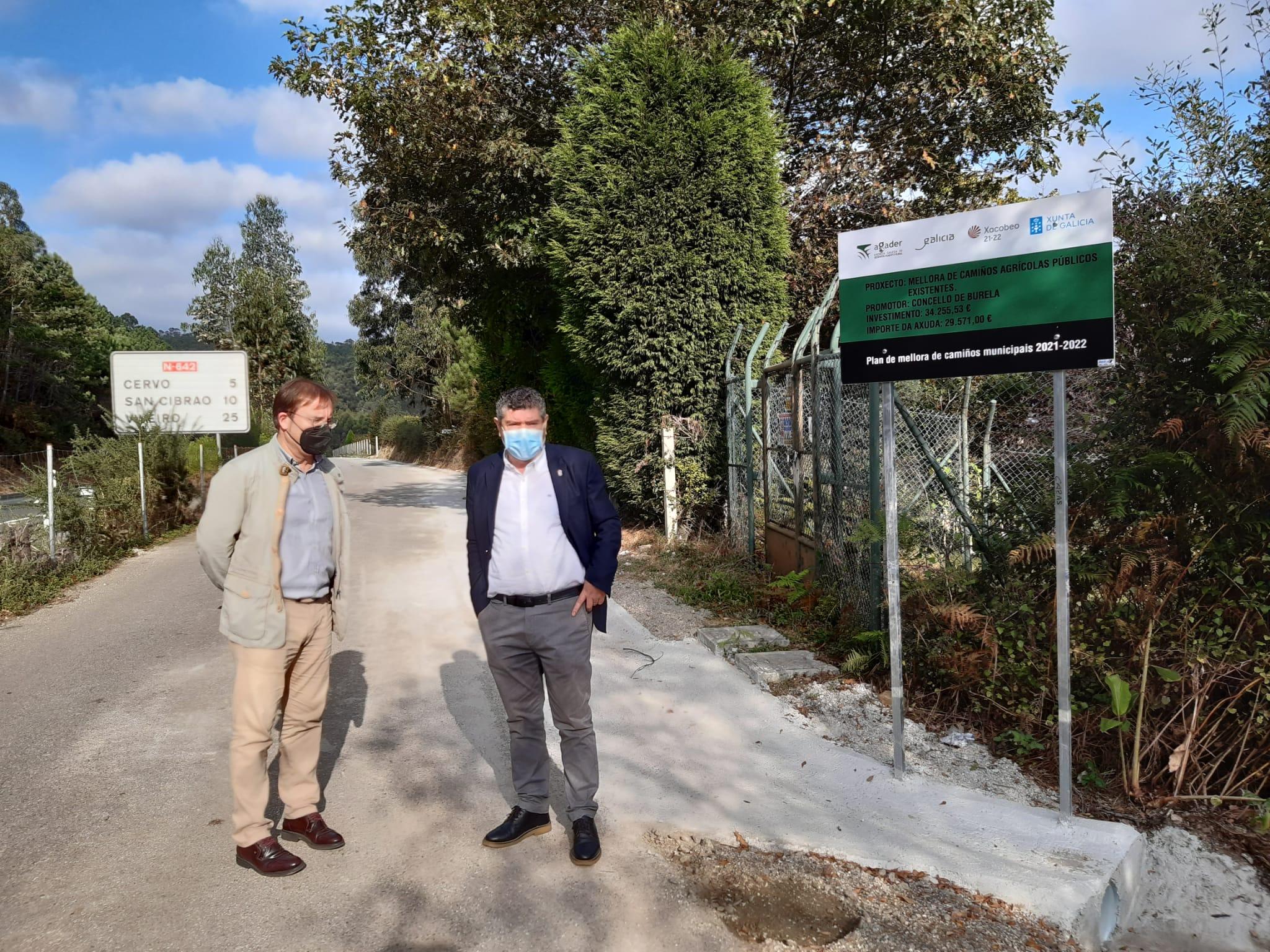 O Concello realizou obras de mellora nun camiño detrás do Hospital da Mariña