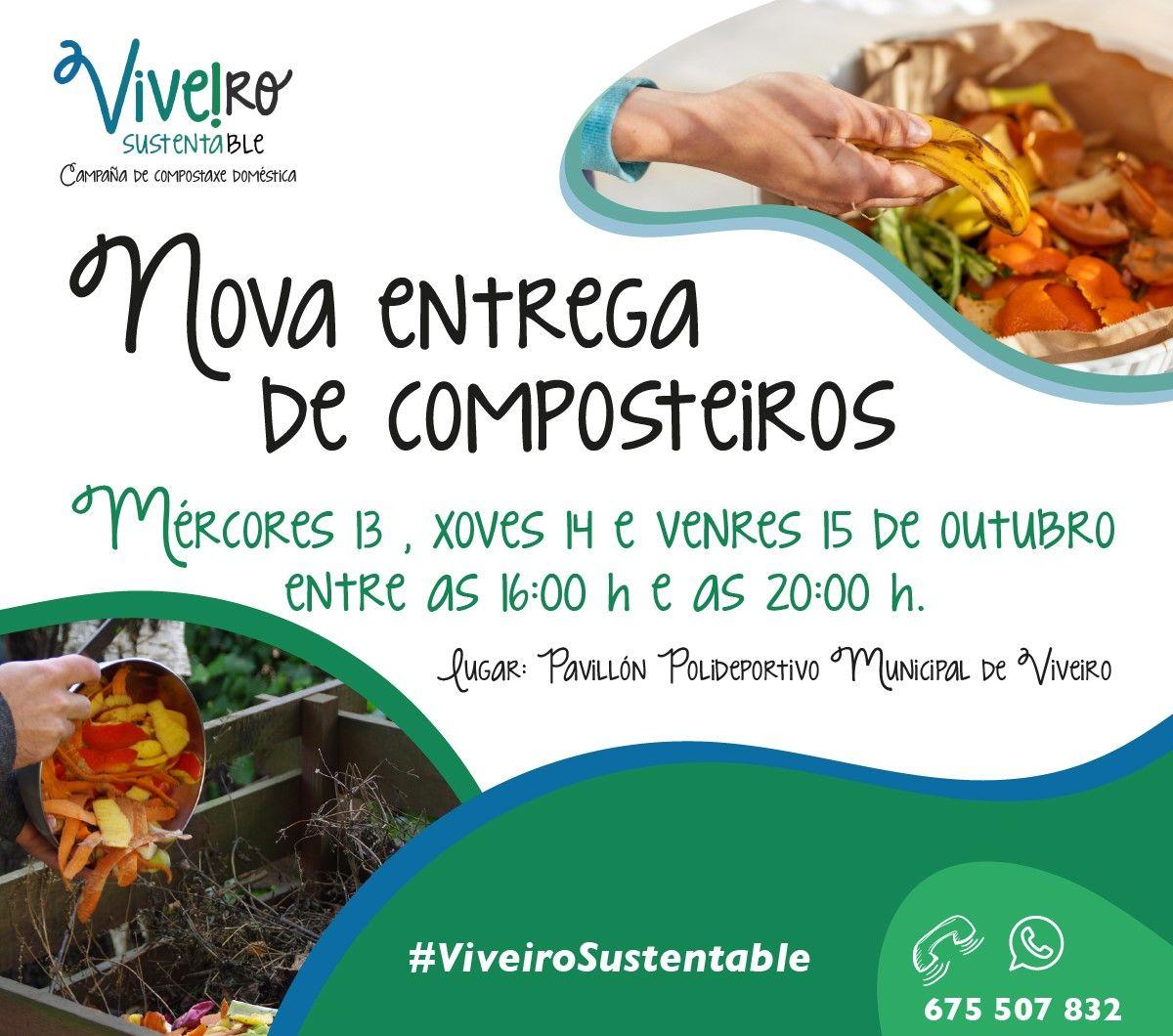 """Última oportunidade para recoller un composteiro do programa """"Viveiro Sustentable"""""""