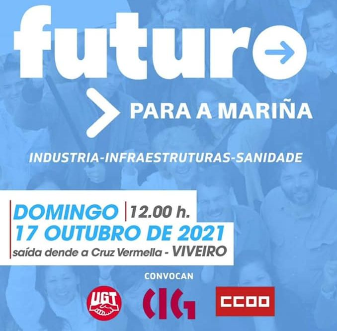 Acisa ribadeo amosa o seu apoio e respalda a convocatoria da manifestacion deste domingo en Viveiro por un futuro para a Mariña
