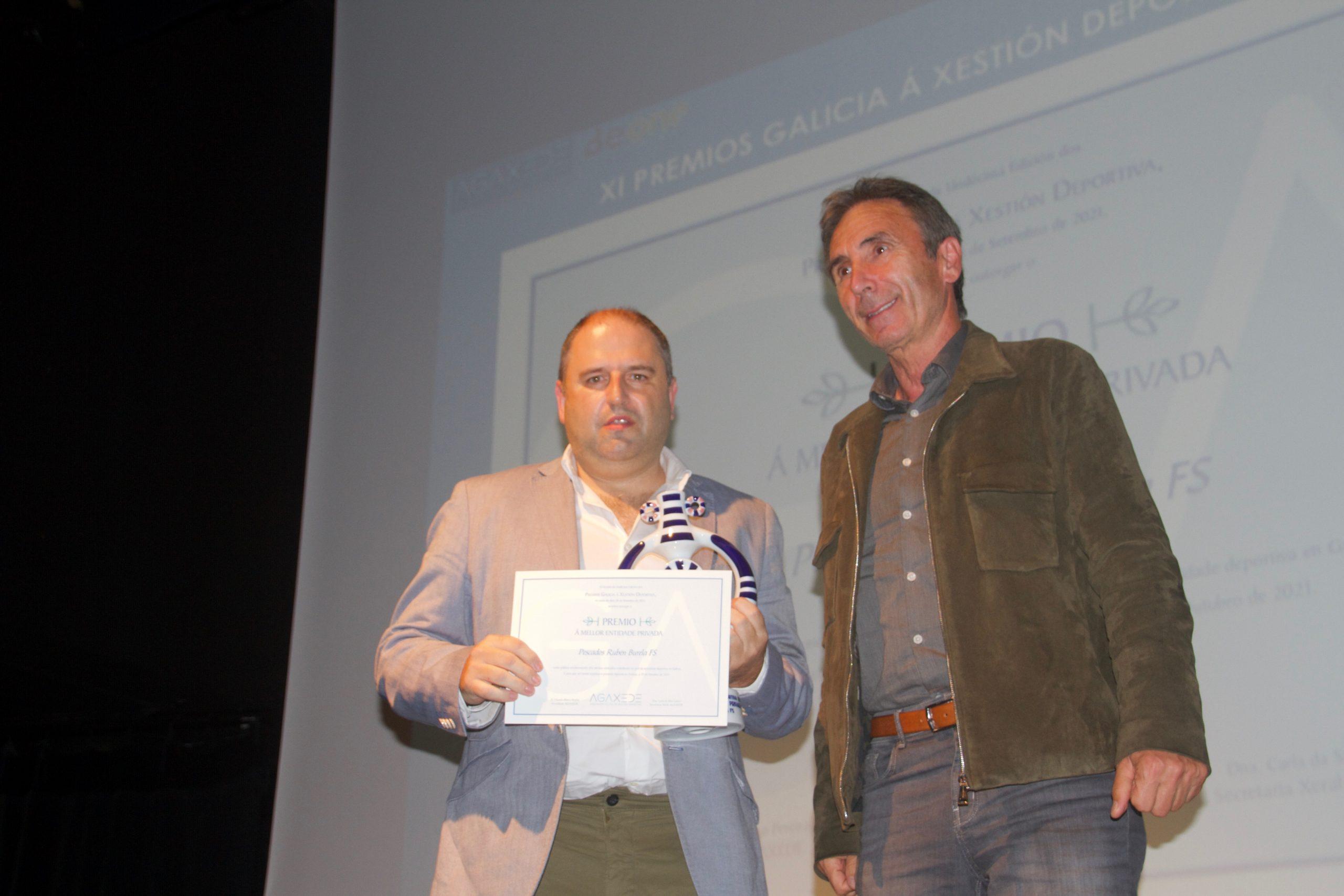 Pescados Rubén, recoñecido nos Premios Galicia á xestión deportiva