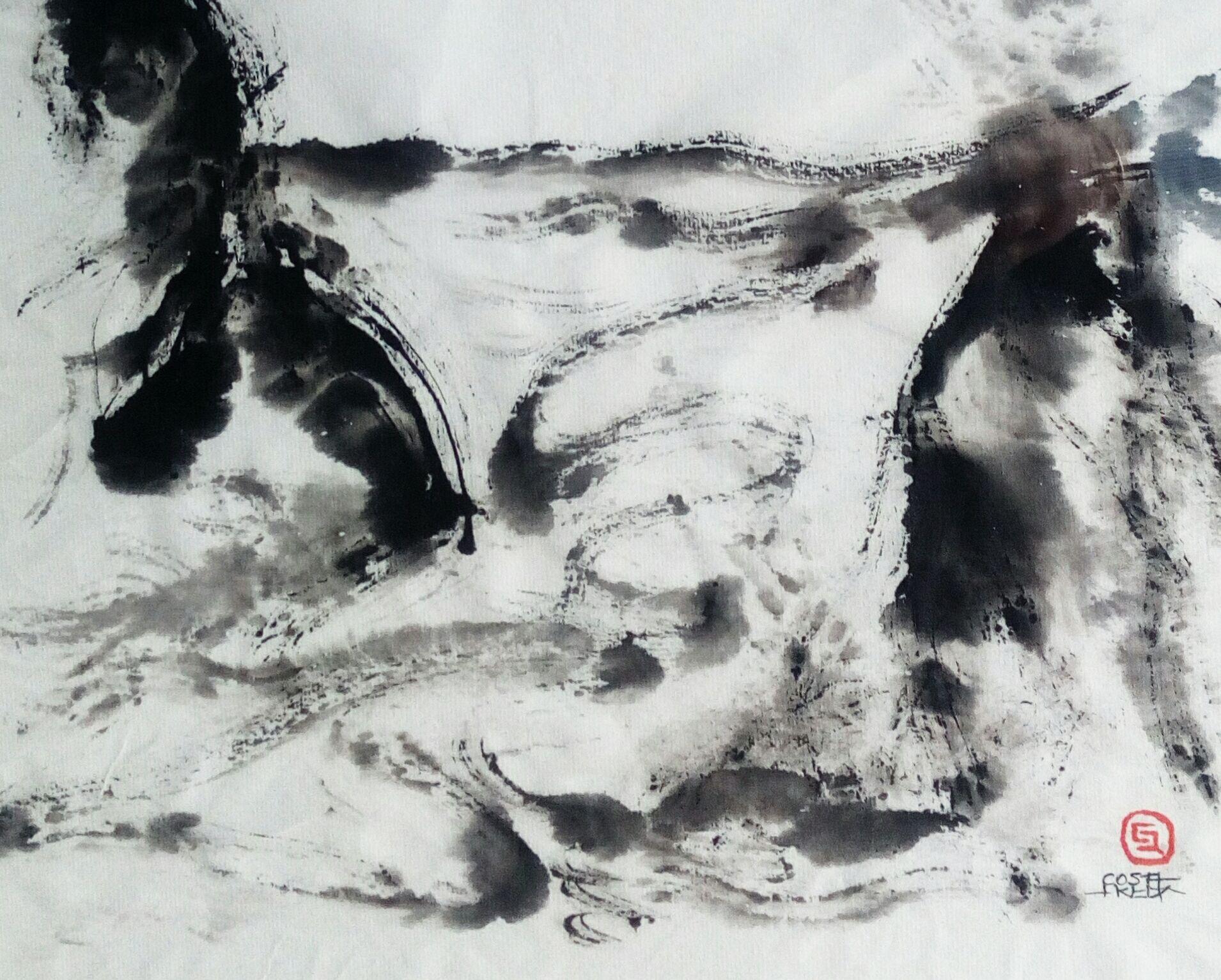 'El trazo del mar', Pinturas de Ángeles Costafreda, dende este venres en Regal Xunqueira