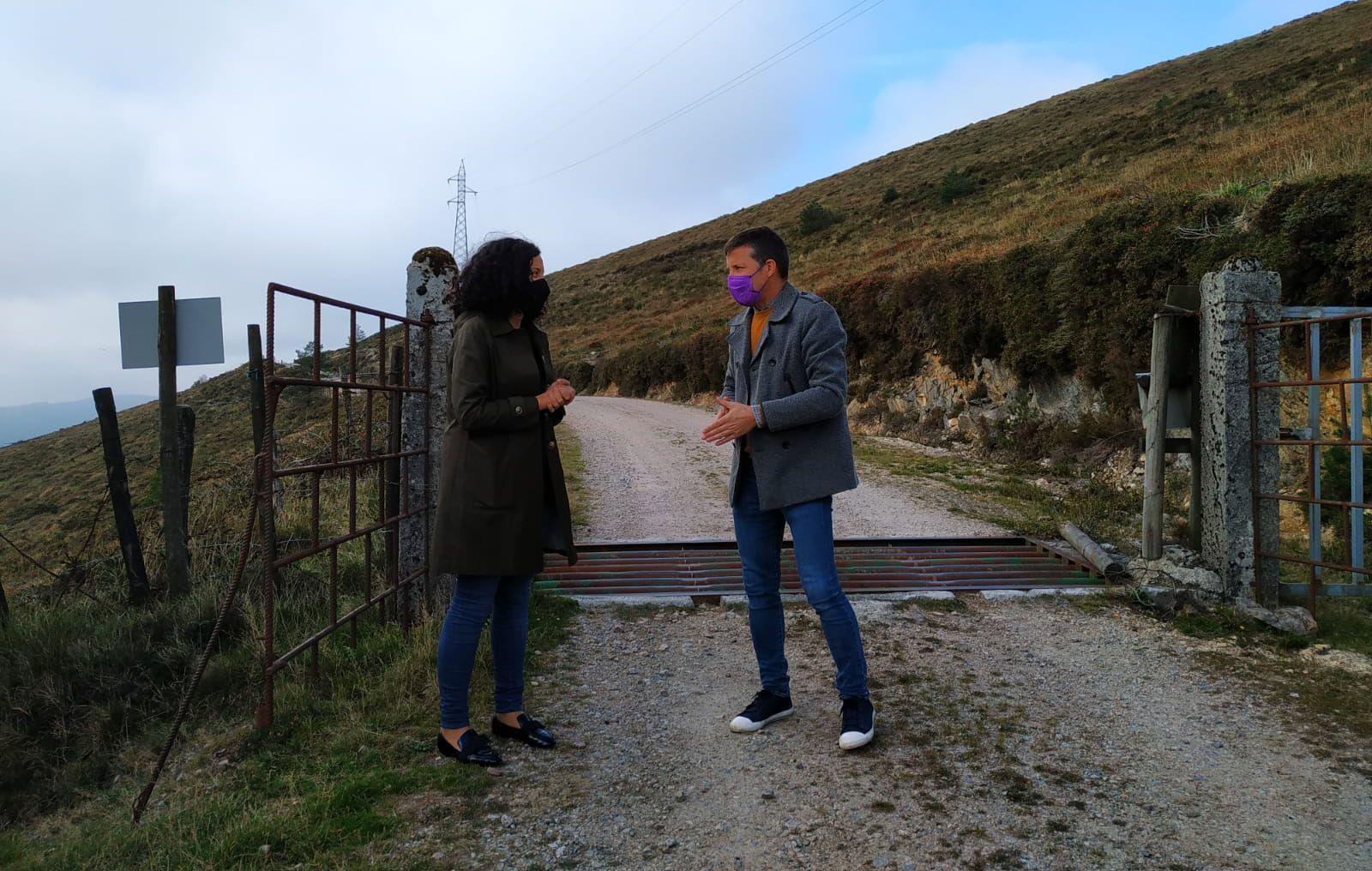 A área de Medio Rural da Deputación financiou melloras nun camiño de uso gandeiro en Muras