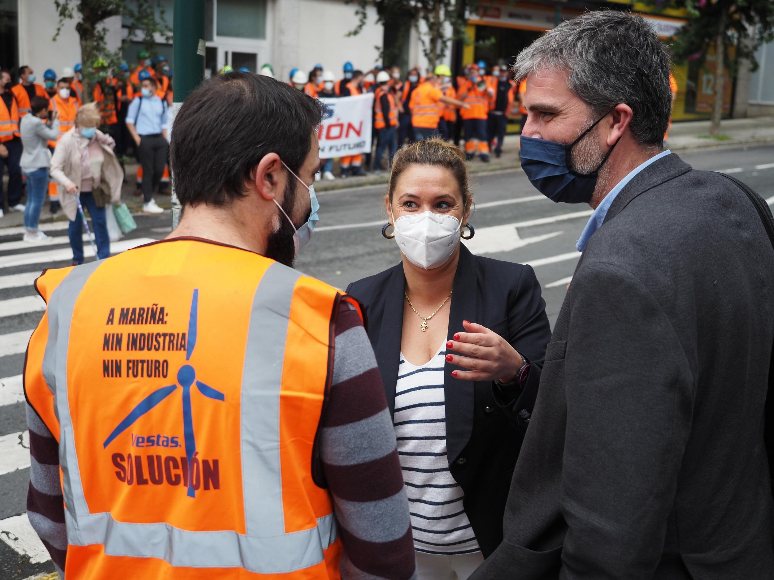 O Parlamento aproba a iniciativa socialista para reclamarlle á Xunta que apoie aos traballadores afectados polo anuncio de peche de Vestas